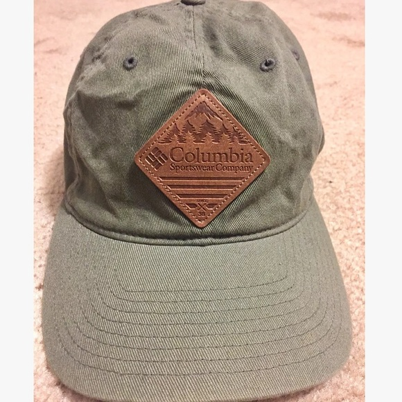 652fb2f7331d39 Columbia Accessories | Rugged Flex Fit Hat With Leather Logo | Poshmark